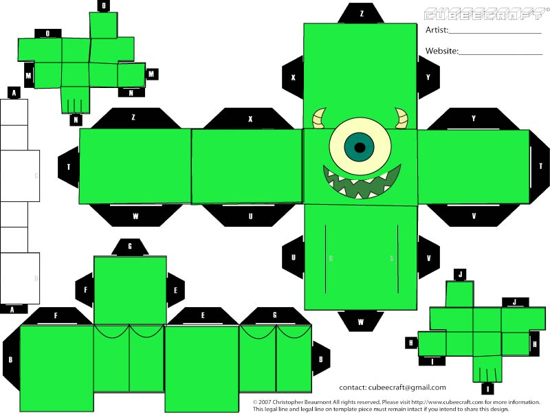 Demon works one page papercraft templates altavistaventures Image collections
