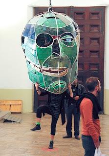 Arte Reciclado, Mascara con Placas Madre, Teclados y Circuitos