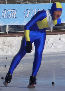 Спорт в Монголии. Соревнования конькобежцев