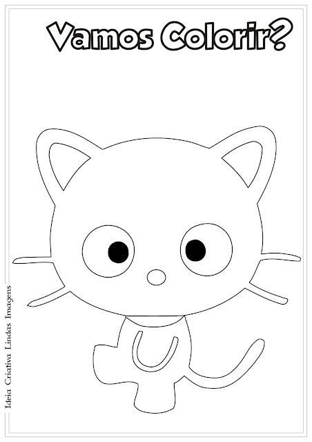 Desenho Chococat Hello Kitty para colorir