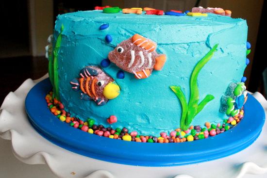 Having Fun at Home Rainbow Fish Birthday Party