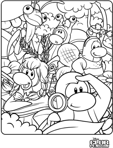 club penquin coloring pages - photo#18