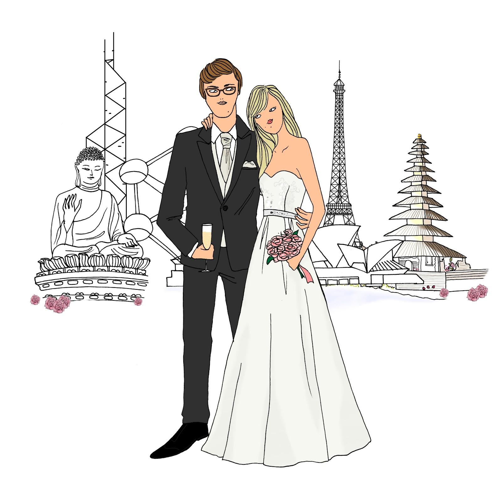 Fabuleux Angeline melin mariage - création faire-part mariage JF45