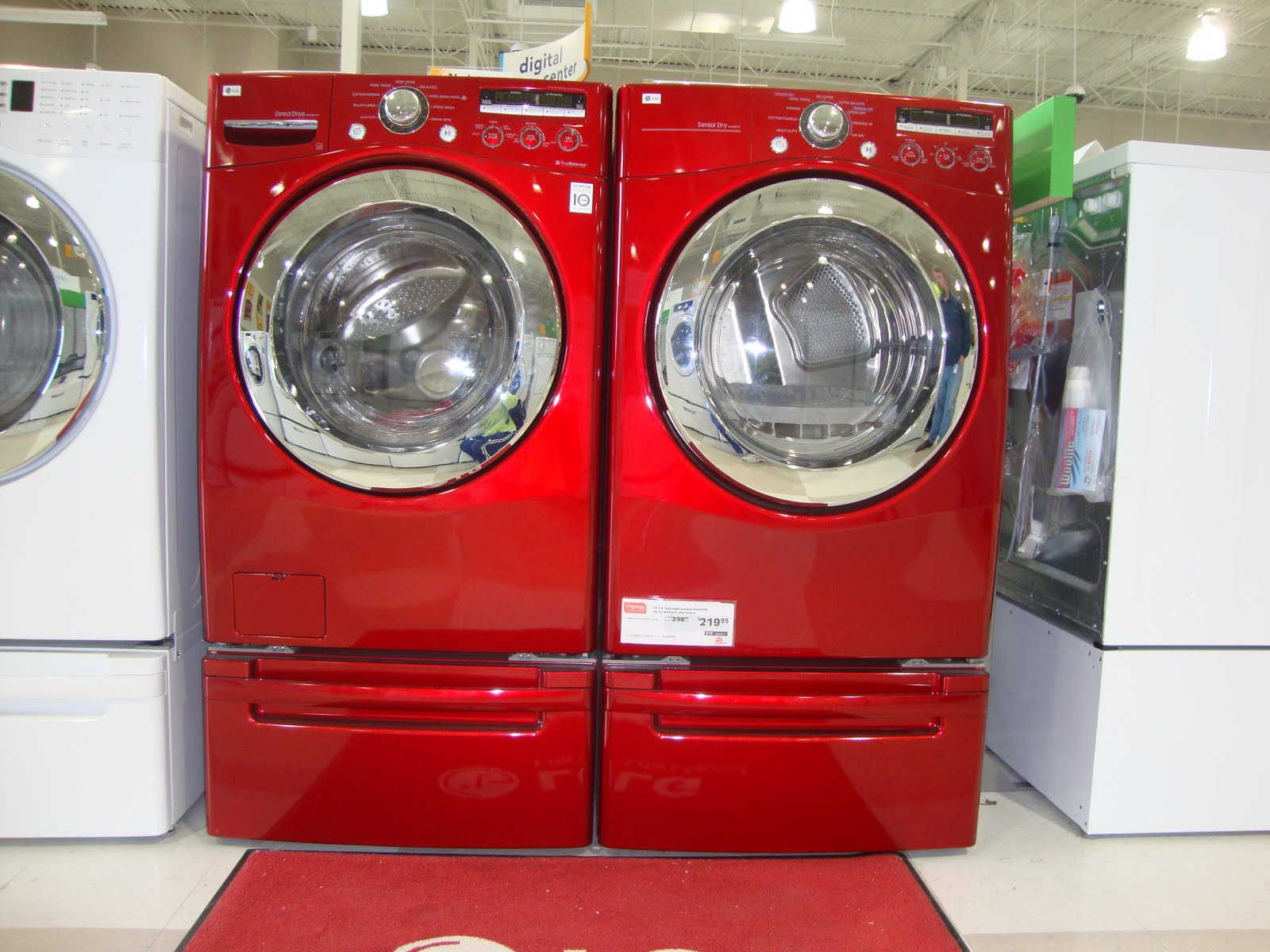 Lg Washer Red Paint