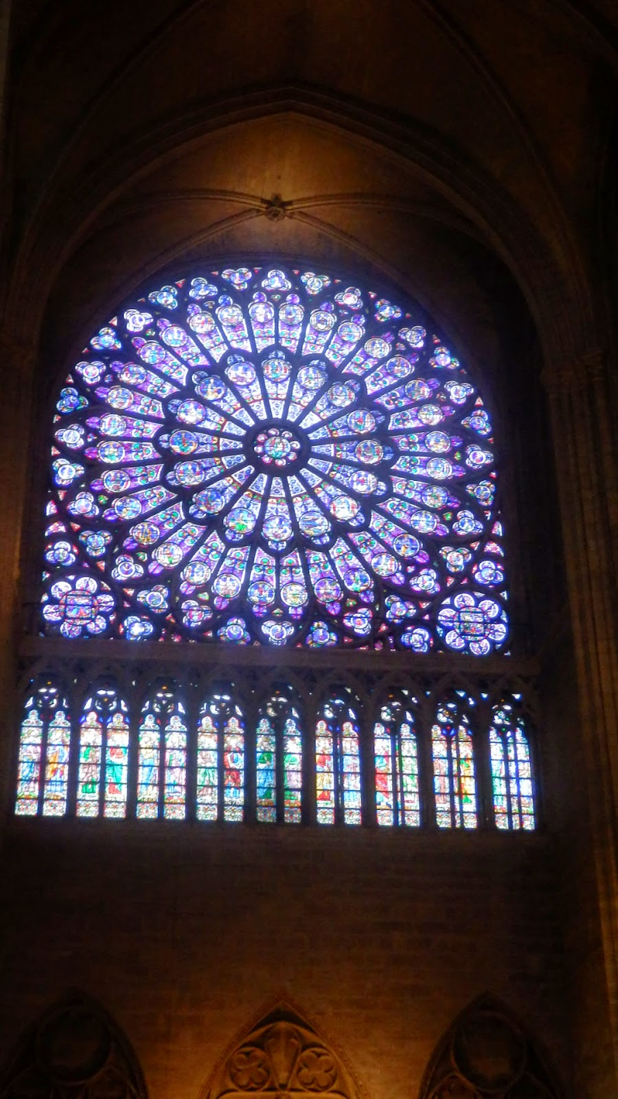Photo taken inside the Notre Dame Paris