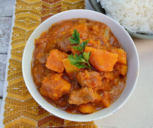 A Quick Beef and Pumpkin Stew recipe loved by all