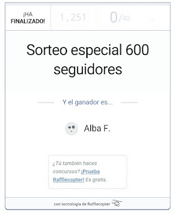 Ganadora sorteo especial 600 seguidores