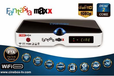 ATUALIZAÇÃO CINEBOX FANTASIA MAXX HD DUAL CORE 3 TURNERS - 24/04/2015