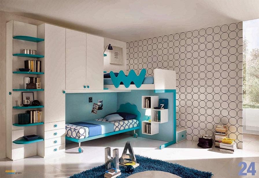 Cuartos para adolescentes en gris y turquesa ideas para for Habitacion blanca y turquesa