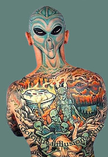 Alien Tattoo Design - Full body tattoos