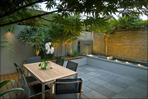 Modern Small Backyard Designs : Dom?nguez Arquitectos Paisajismo y Jardines Minimalistas