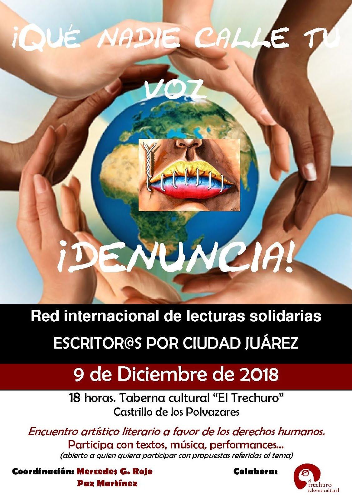 Levantaremos nuestra voz a favor de los Derechos Humanos