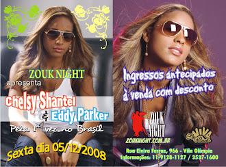 CHELSY SHANTEL E EDDY PARKER NO BRASIL - DEZ/2008