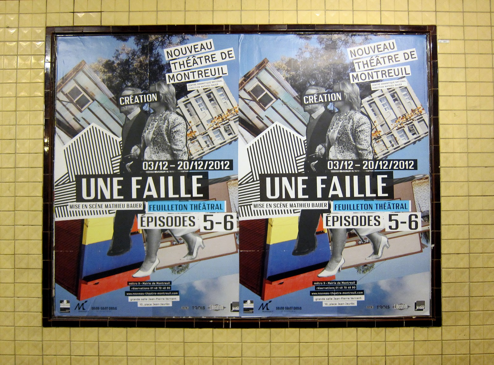 change is good: Latest posters in Paris subway