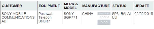 Tablet Sony Terbaru Akan Dinamakan SGP771?