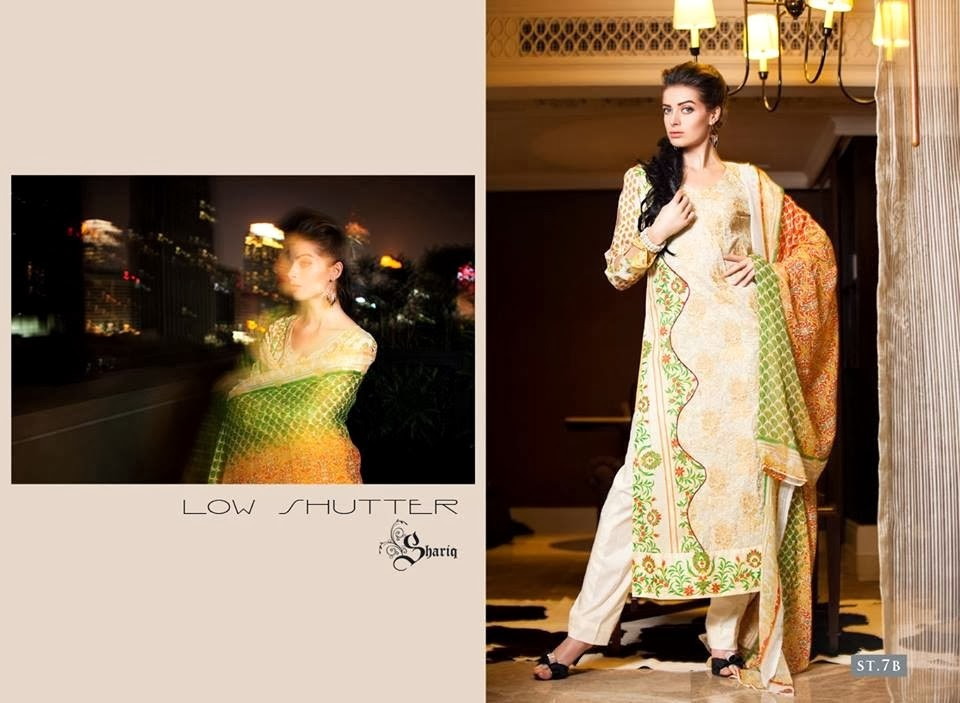Printed Lawn Suits In Light Colors