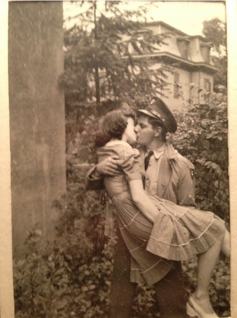 A Welcome Kiss #love #kiss #vintage