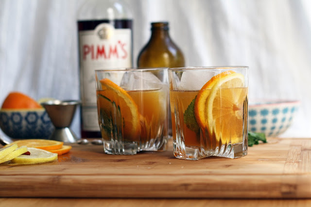 Pimm's Cup with Ginger Beer | Sevengrams