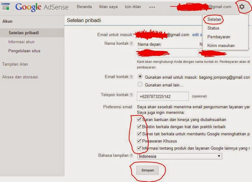 cara berlangganan email dari google adsense