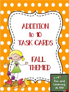 https://www.teacherspayteachers.com/Product/Addition-to-10-Task-Cards-Fall-Themed-1518502