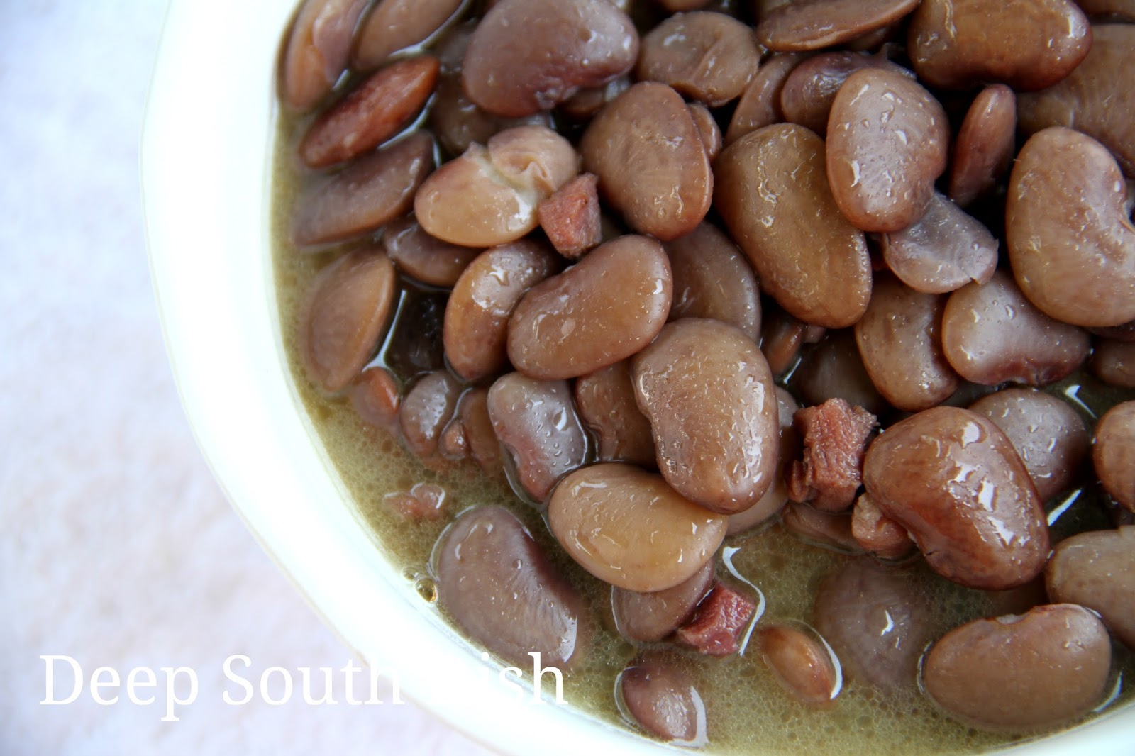 summertime Southern favorite, fresh speckled butter beans are stewed ...