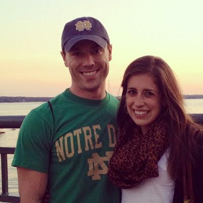 Erin and Ben Clarke at Lake Geneva