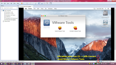 Tampilan Desktop OS X El Capitan di VMware