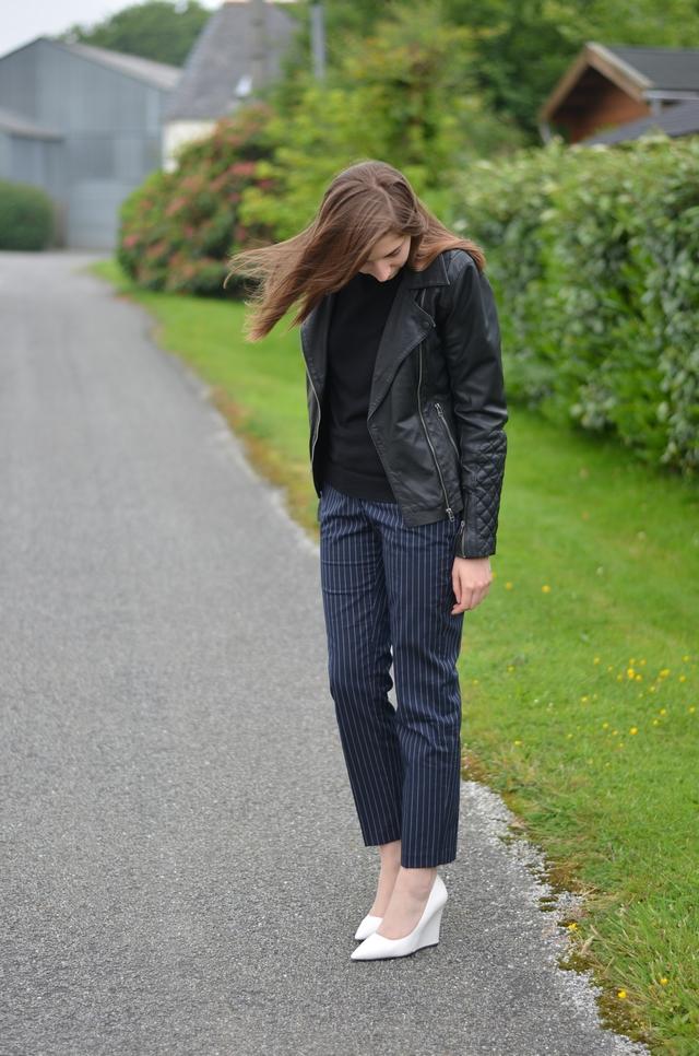 Ohcommentçava - Pantalon rayures pinstripes Zara