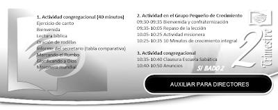 Auxiliar para Directores de Escuela Sabatica   2do Trimestre 2013