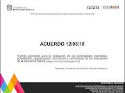 Presentación Normas Generales para la Evaluación de los aprendizajes...