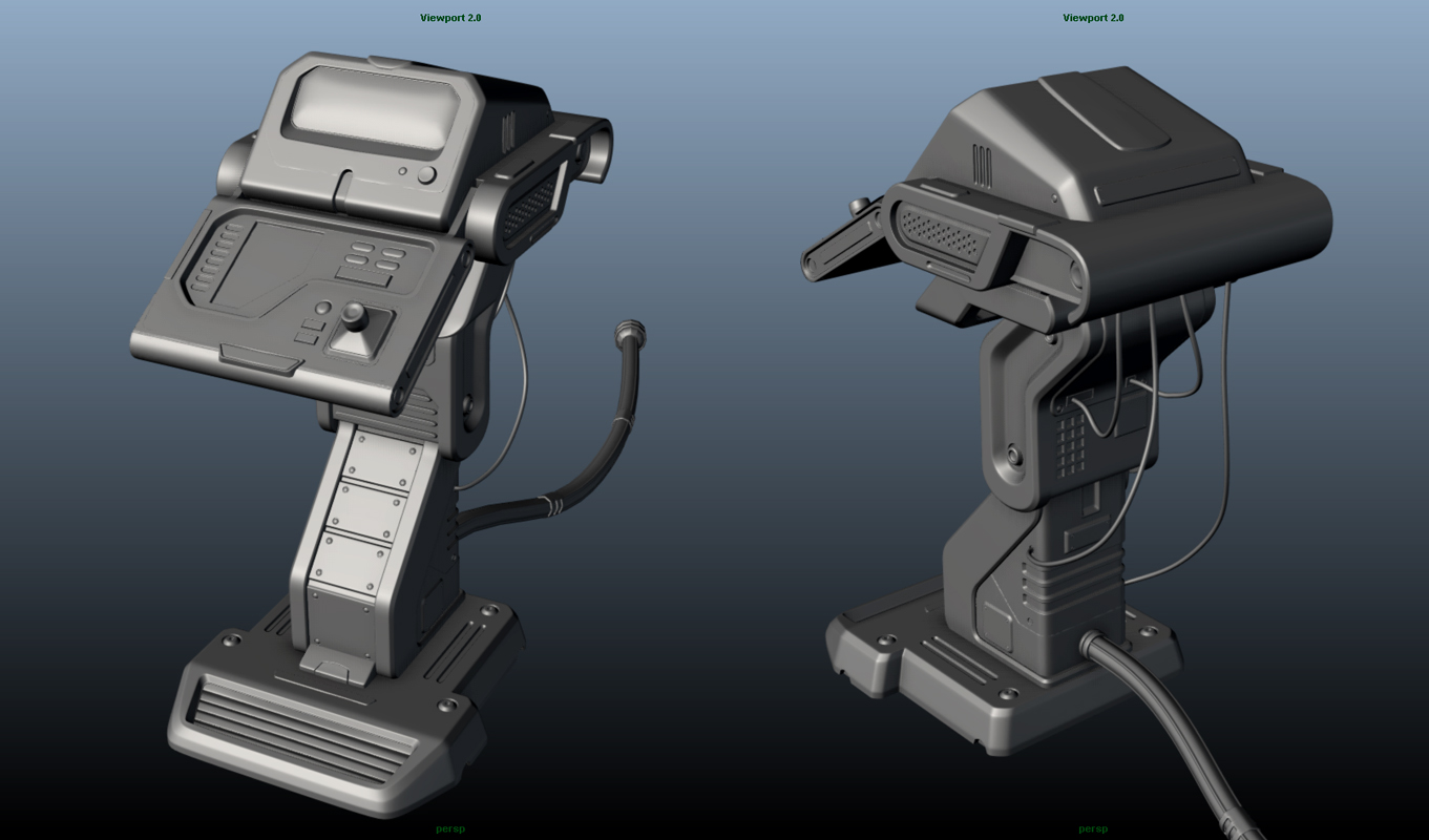 Piero S Lab Sci Fi Console Hi Poly Model