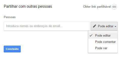 Como enviar documentos pelo Google Drive