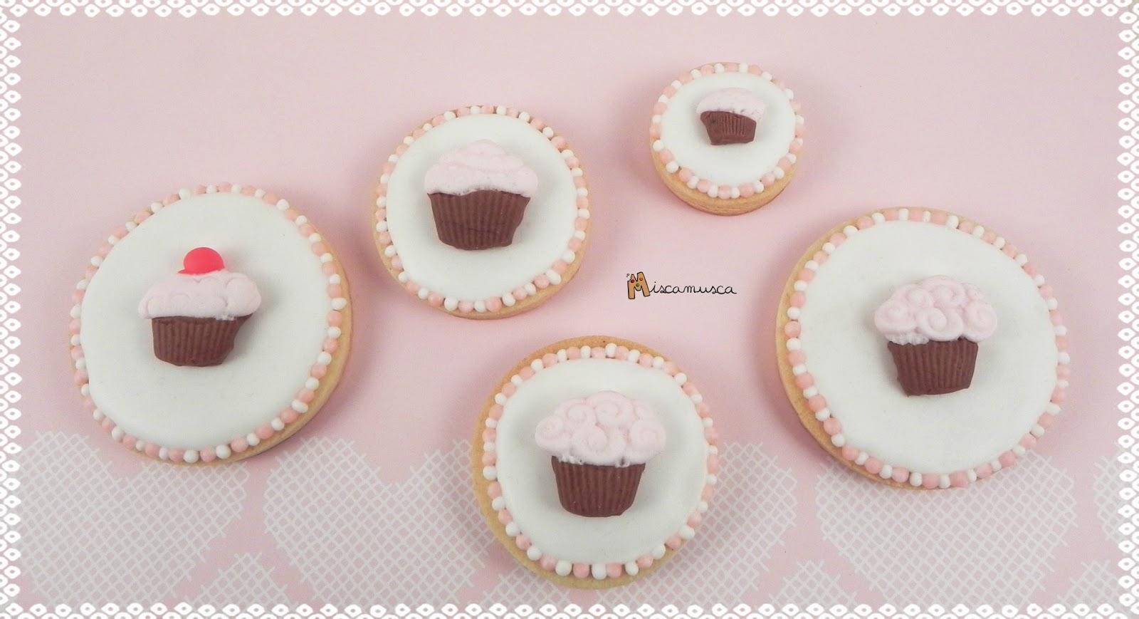 galletas cupcake fondant
