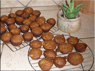 mini carrot bran muffins