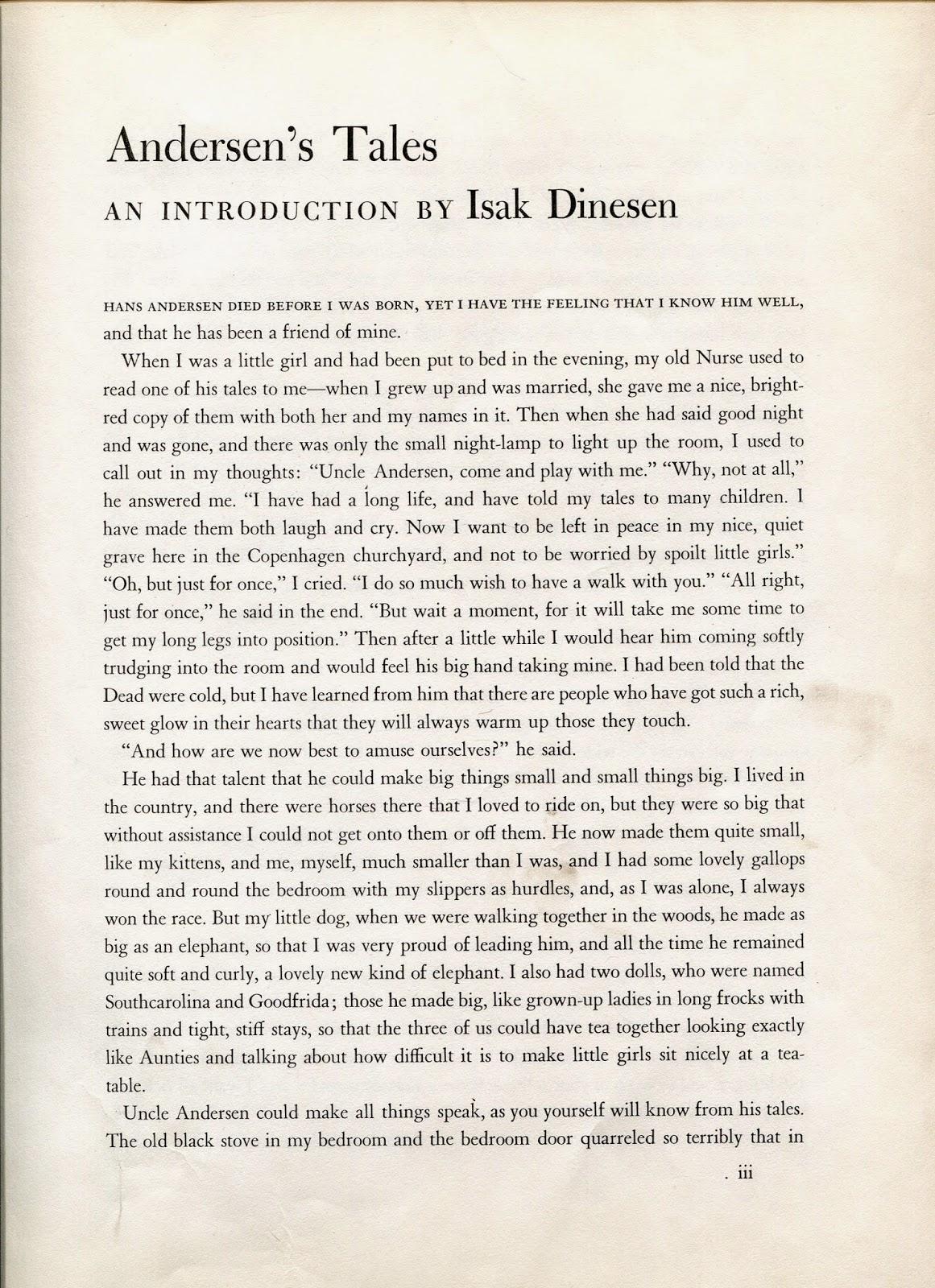 Andersen, Thumbelina: a summary
