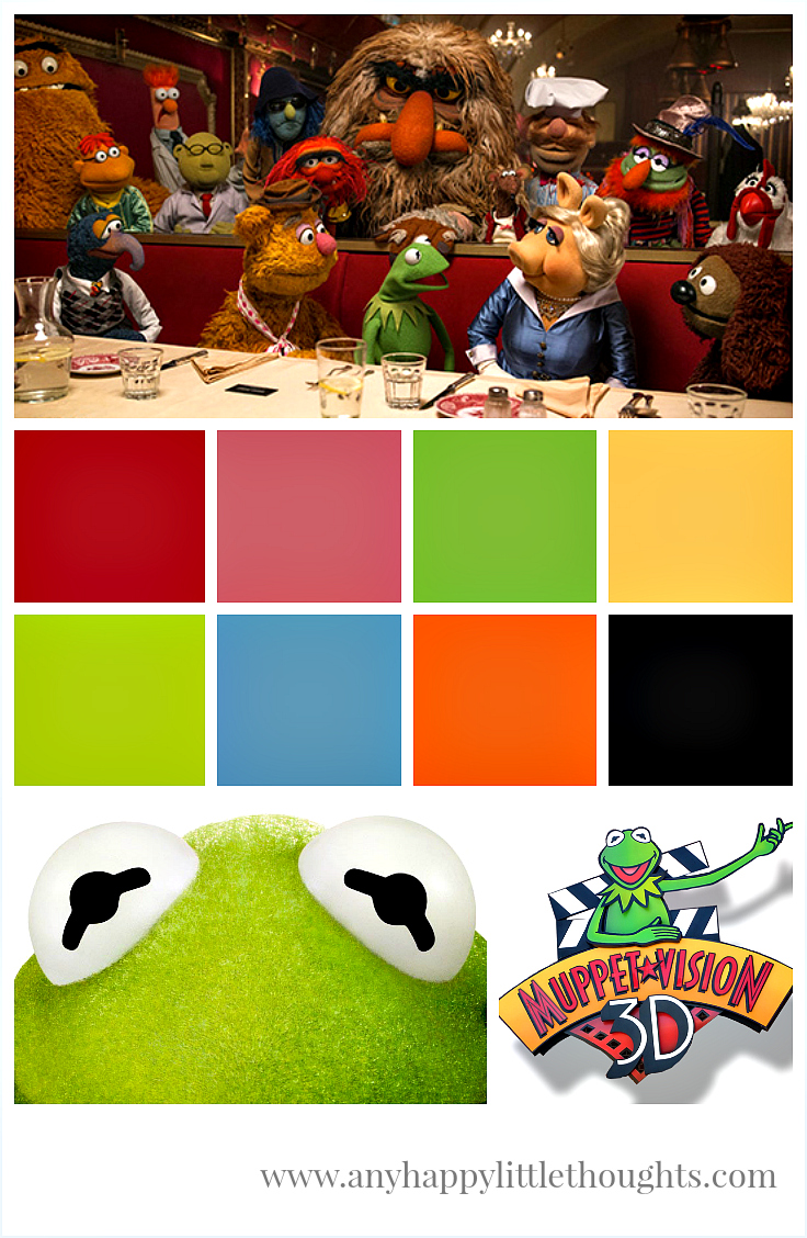 Muppets Most Wanted, Kermit the Frog, Muppet*Vision 3D - memory keeping | www.anyhappylittlethoughts.com