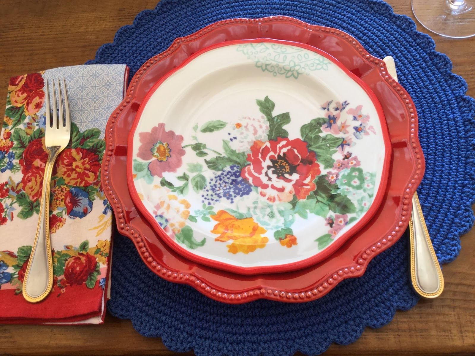 ... acquired last spring brought out the blue in the salad plates (also Pioneer Woman). And last summer while in Cambria I spotted these April Cornell ... & Accounting For All My Blessings: Mix \u0027n Match Table Setting