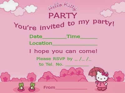 Pretty Practical Mom Free Printable Hello Kitty Invitations