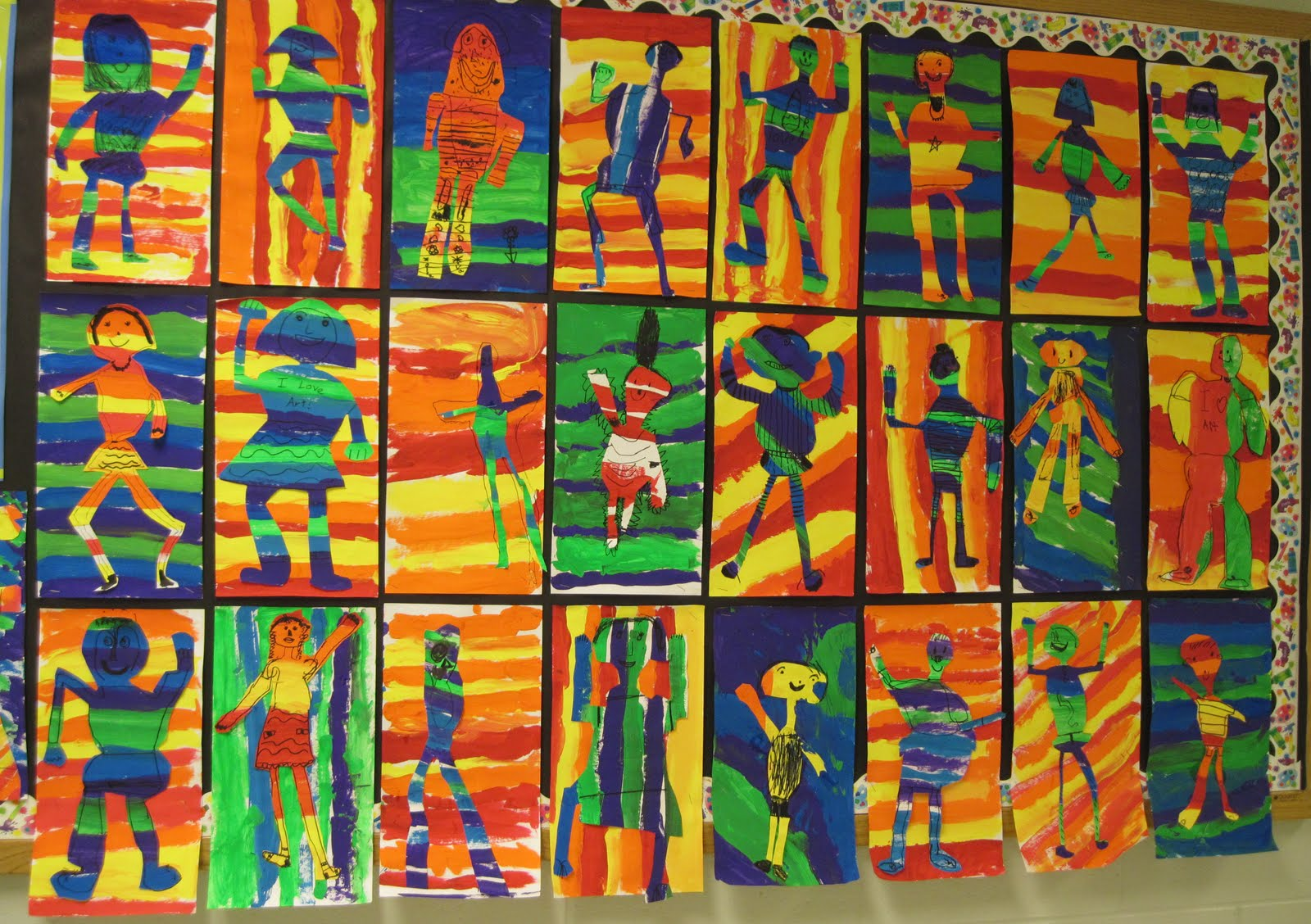 Second Graders Started The School Year With A Warm And Cool Variation