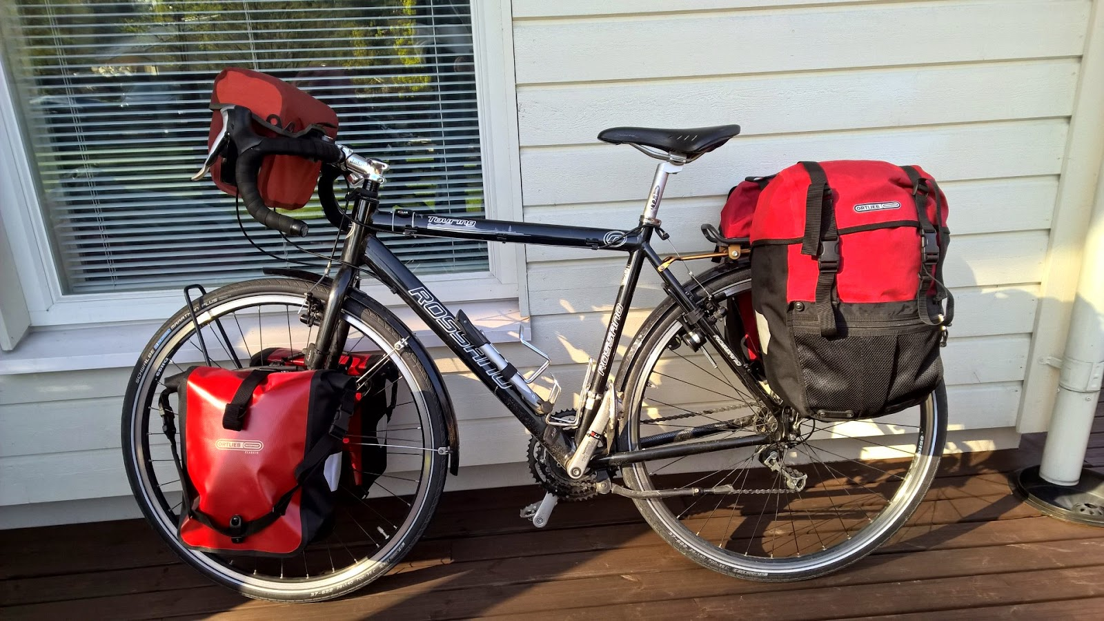Cycling Across Europe 2015 May Measure The Distance By Bicycle Ortlieb Panniers Used To Carry Stuff And Polar Cs200cad Odometer Time Cadence Etc