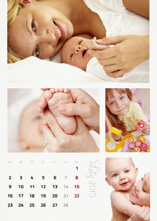 szablon fotokalendarza na wiele zdjęć