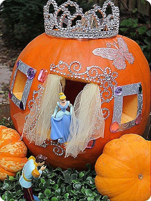 Carved Pumpkin, Cinderellas Carriage, Halloween Pumpkin, Cinderella