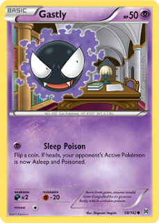 Gastly BREAKthrough Pokemon Card