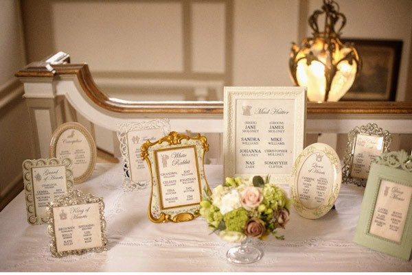 James And Jane Used The Frames As Their Tableplan They Were Both Very Creative Had An Alice In Wonderland Themed Wedding To Read A Full Blog On