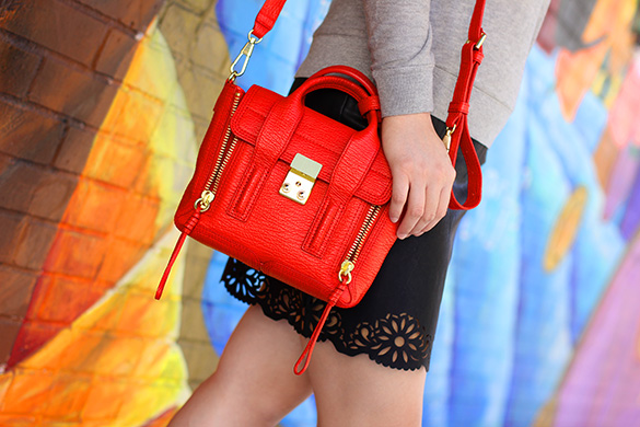 Phillip Lim Red Pashli Mini Satchel
