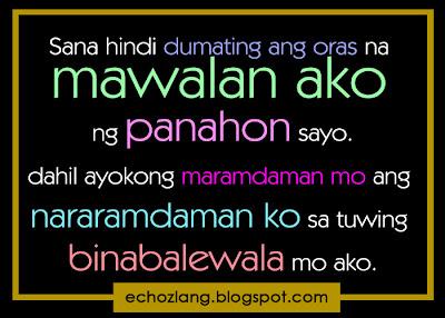 Sana hindi dumating ang oras na mawalan ako ng panahon sayo.