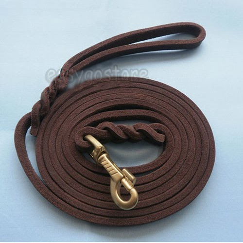 2M/3M LONG PET DOG TRAINING LEATHER LEAD LEASH PUPPY TRAINING OBEDIENCE RECALLS