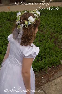 CRAFTS Make A First Communion Flower Wreath Headpiece