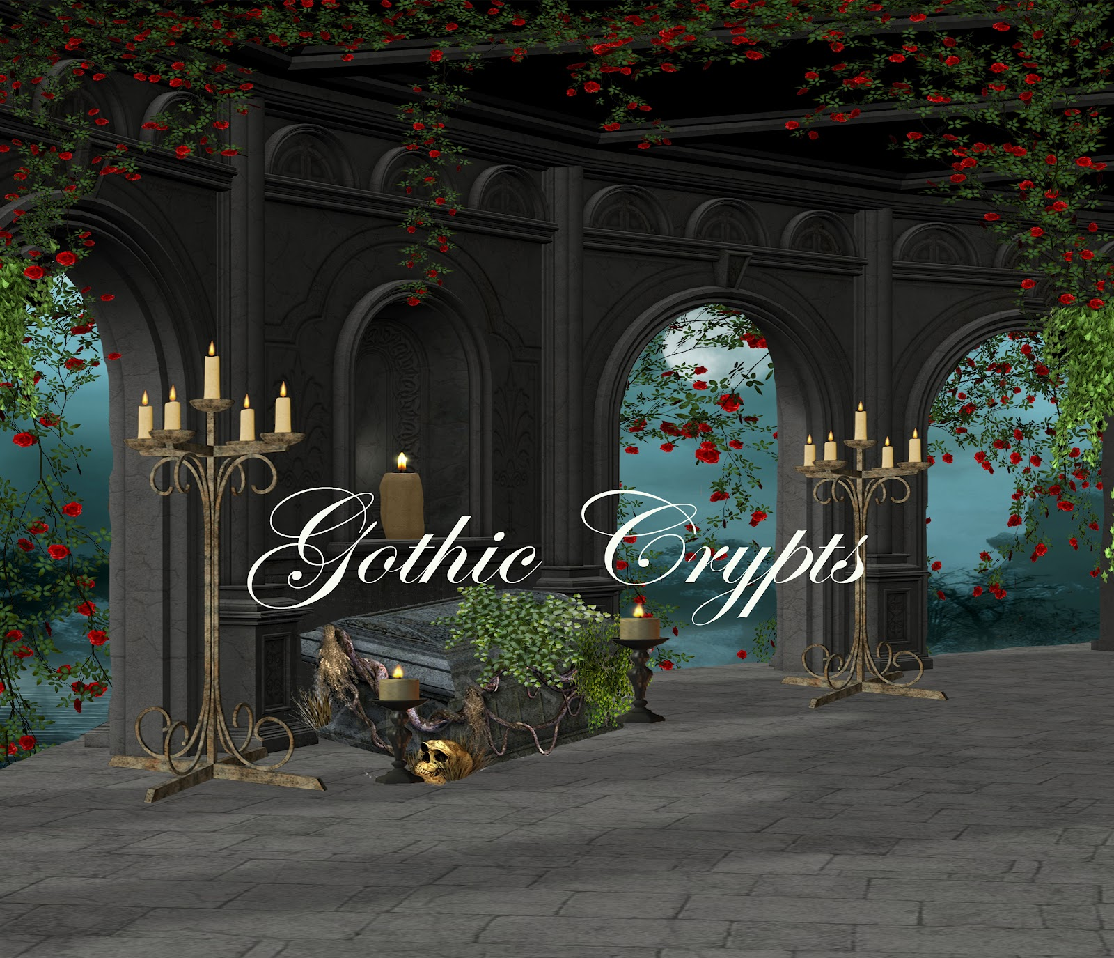 Digital Backgrounds PNG Tube Files Backdrops Fantasy Photography Gothic Crypts