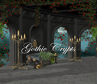 Gothic Crypts digital fantasy backgrounds